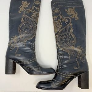 Anna Sui for Anthropologie Malory Leather Boots